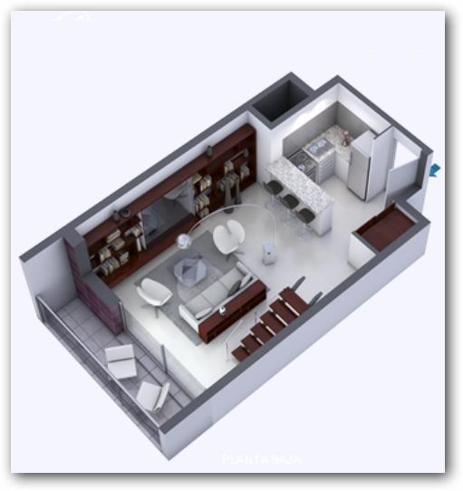 Duplex moderno en dos plantas