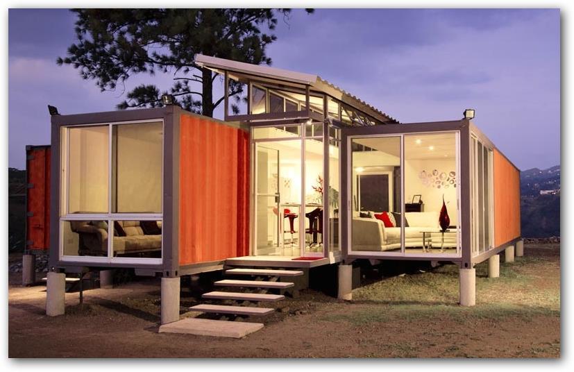 Casa hecha con contenedor - Contenedor maritimo casa ...