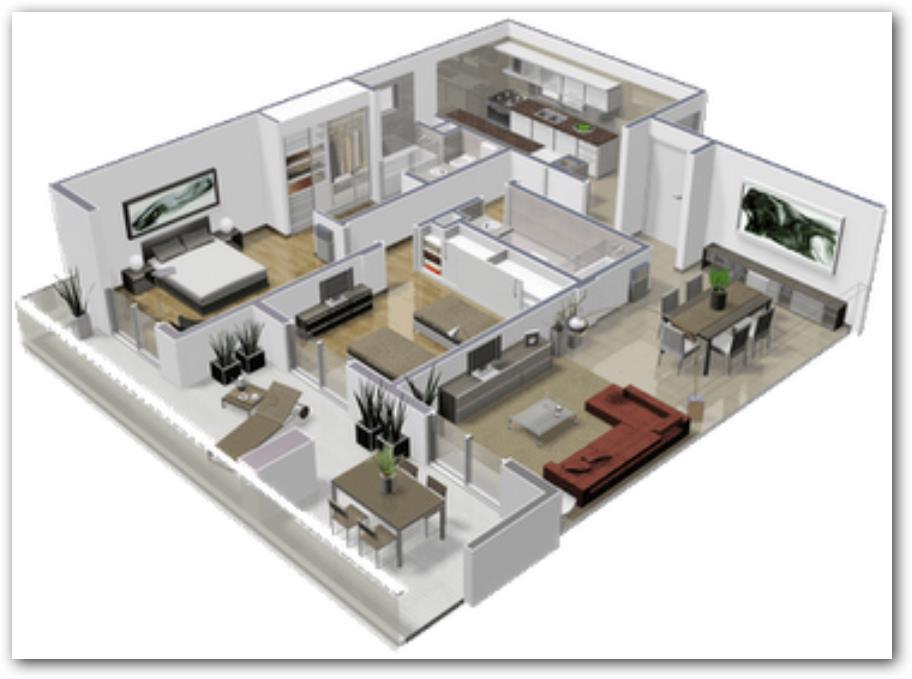 Departamento moderno planos de casas for Planos de apartamentos modernos