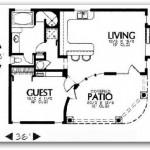 Plano de casa en esquina con 1 dormitorio