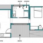 Plano de casa en 50 metros cuadrados