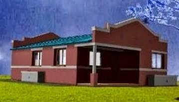 Fachada de casa campestre