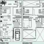 Plano de casa de 120 metros cuadrados en dos plantas