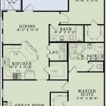 Plano de casa de doble entrada y 2 dormitorios