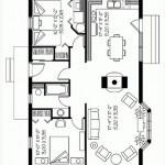Plano de casa amplia de 2 dormitorios y 1 baño