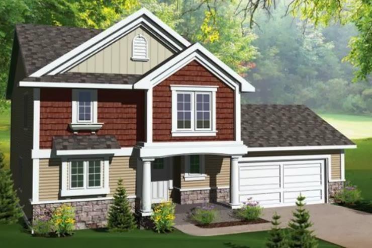 Casas modernas y pequenas de tres dormitorios y dos salas for Planos de casas de dos plantas y tres dormitorios
