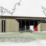 Casa de tres dormitorios con galería central