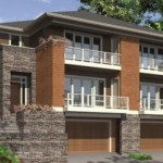 Casa en condominio de tres pisos y con garaje