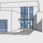 Plano de casa estilo mediterráneo con 3 dormitorios