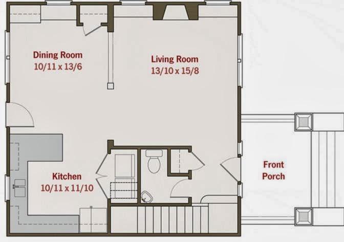 Plano de casa 2 pisos, 3 dormitorios y porche de entrada