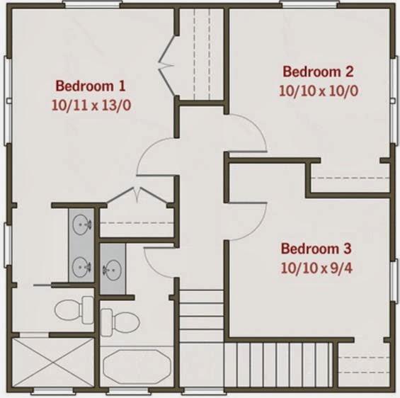 Plano de casa 2 pisos
