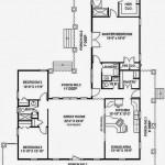 Plano de casa de campo de 3 dormitorios