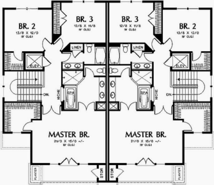 Plano del piso superior