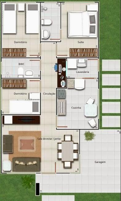 Casa mediana de tres dormitorios y 92 metros cuadrados for Planos de casas medianas