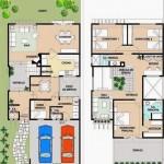 Casa de dos plantas, con cuatro dormitorios y cuatro baños