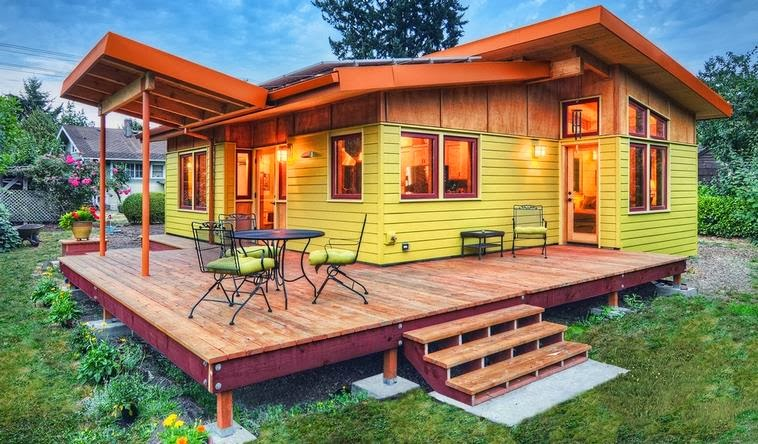 Casa de vacaciones de dos dormitorios, un baño y porch