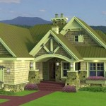 Plano de casa rústica y moderna