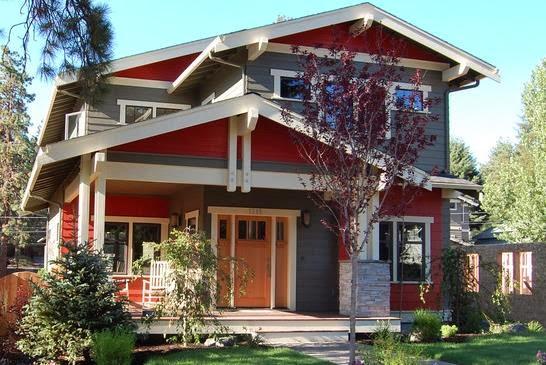 Fachada casa de madera con 3 dormitorios y muy bonita