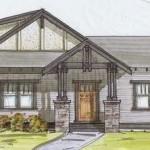 Plano de casa amplia con 3 dormitorios y 200 metros cuadrados