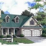 Plano de casa clásica de 3 dormitorios y garaje doble