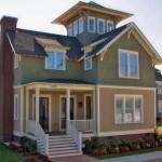 Plano de casa de 2 pisos y ático