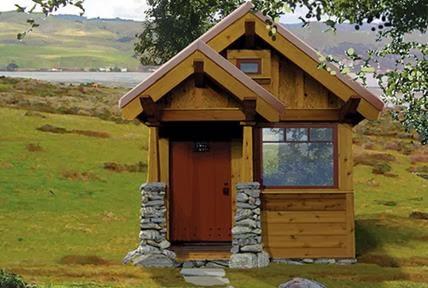 Fachada de casa peque a de madera - Casas madera pequenas ...