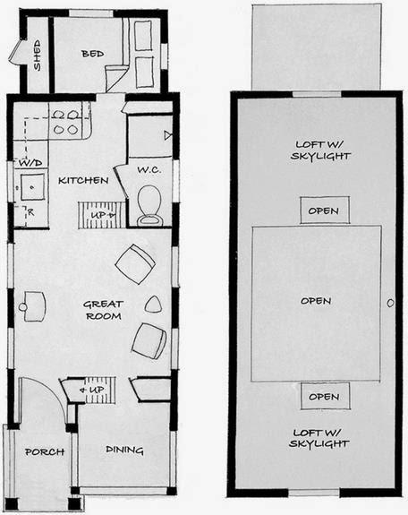 Plano de casa de madera económica