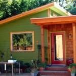 Plano de casa pequeña y económica de 1 dormitorio