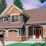 Plano de casa grande de 3 habitaciones en 2  pisos