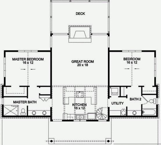 Plano de casa de campo de 2 plantas con estilo r stico for Planos de casas de campo de 3 dormitorios