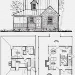Plano de casa de dos pisos con estilo rústico