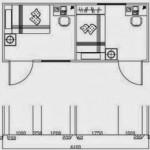 Plano de casa hecha con contenedores