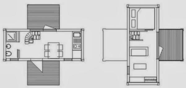 Casas prefabricadas de una planta 3 habitaciones planos for Plantas arquitectonicas de casas