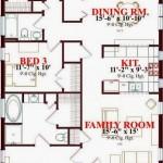 Plano de casa de 3 dormitorios muy confortable