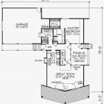 Plano para cabaña de madera en 75 metros cuadrados