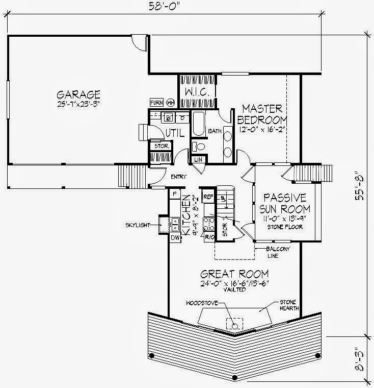 Tipos de fachada para una cabana for Planos de madera