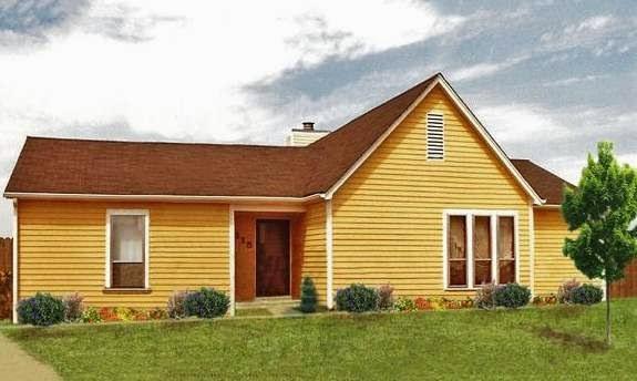 Plano de casa de 120 metros cuadrados y estilo americano for Casas estilo americano