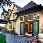 Fachada de casa moderna con estilo