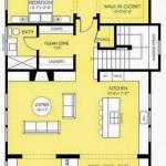 Plano de casa angosta, 2 pisos y porche