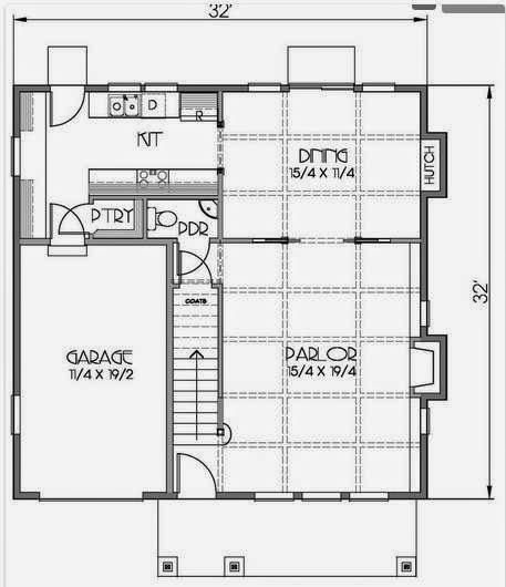 Plano de casa de 2 pisos y 150 metros cuadrados