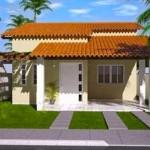 Plano de casa de 3 dormitorios con cochera