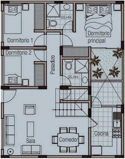 Como crear planos de casas en 120 metros cuadrados de una - Planos de casas de 100 metros cuadrados ...