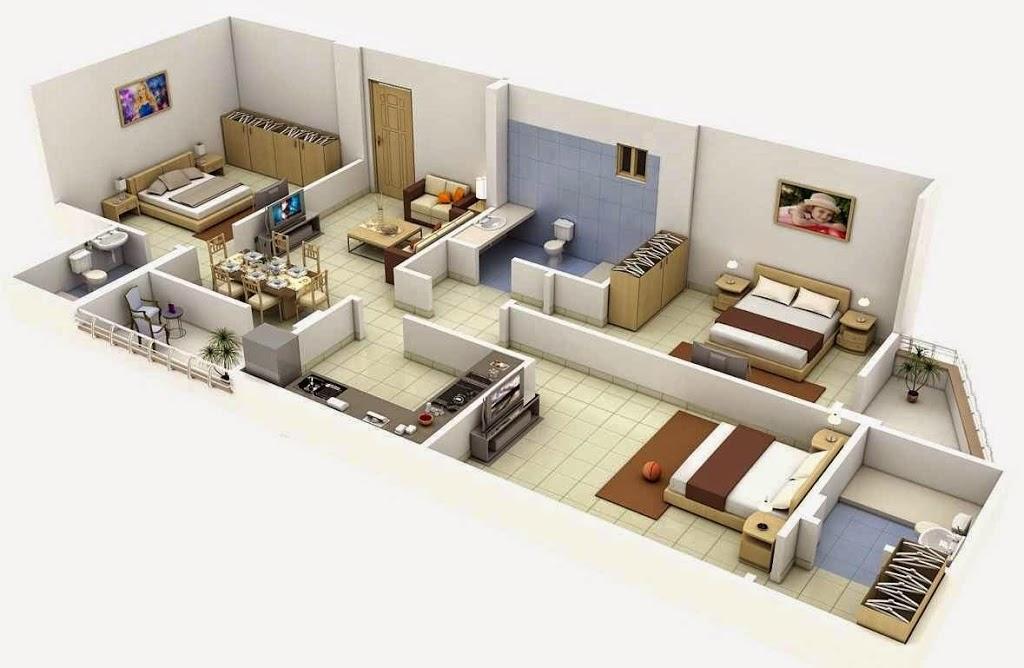 Vivienda - Planos de casa en 3d ...