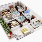 Plano de casa moderna de 3 dormitorios grandes