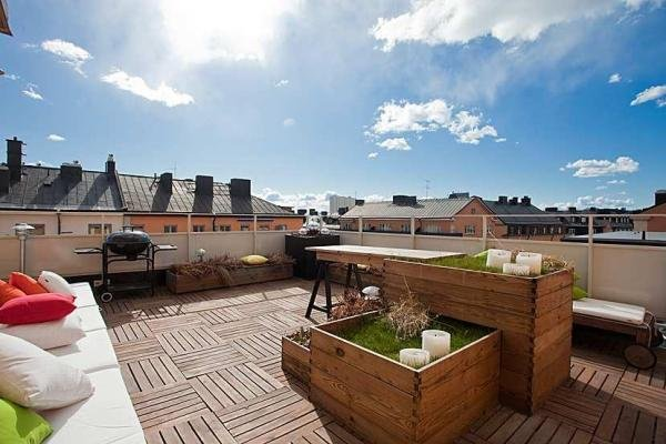 Fotos de terrazas modernas for Cubiertas modernas para terrazas