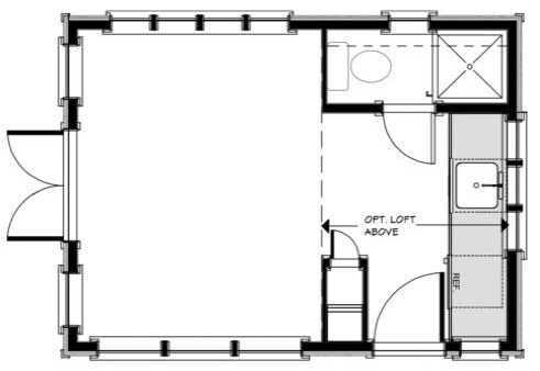 Plano de casa de 20 metros cuadrados