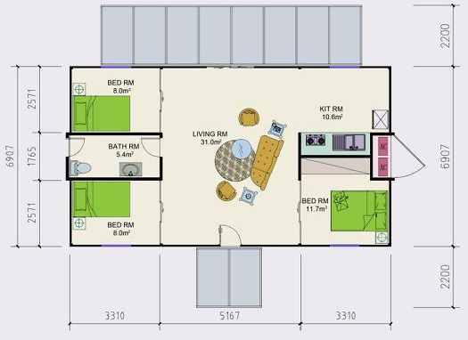 planos de casas hechas de containers