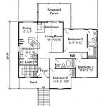 Plano de casa de playa con garaje