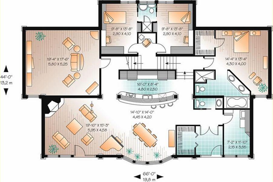 planos de casas hermosas de un piso