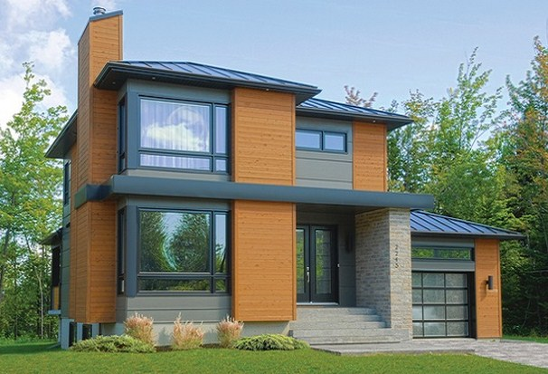 Planos de pisos de 40m2 for Fachadas de dos pisos